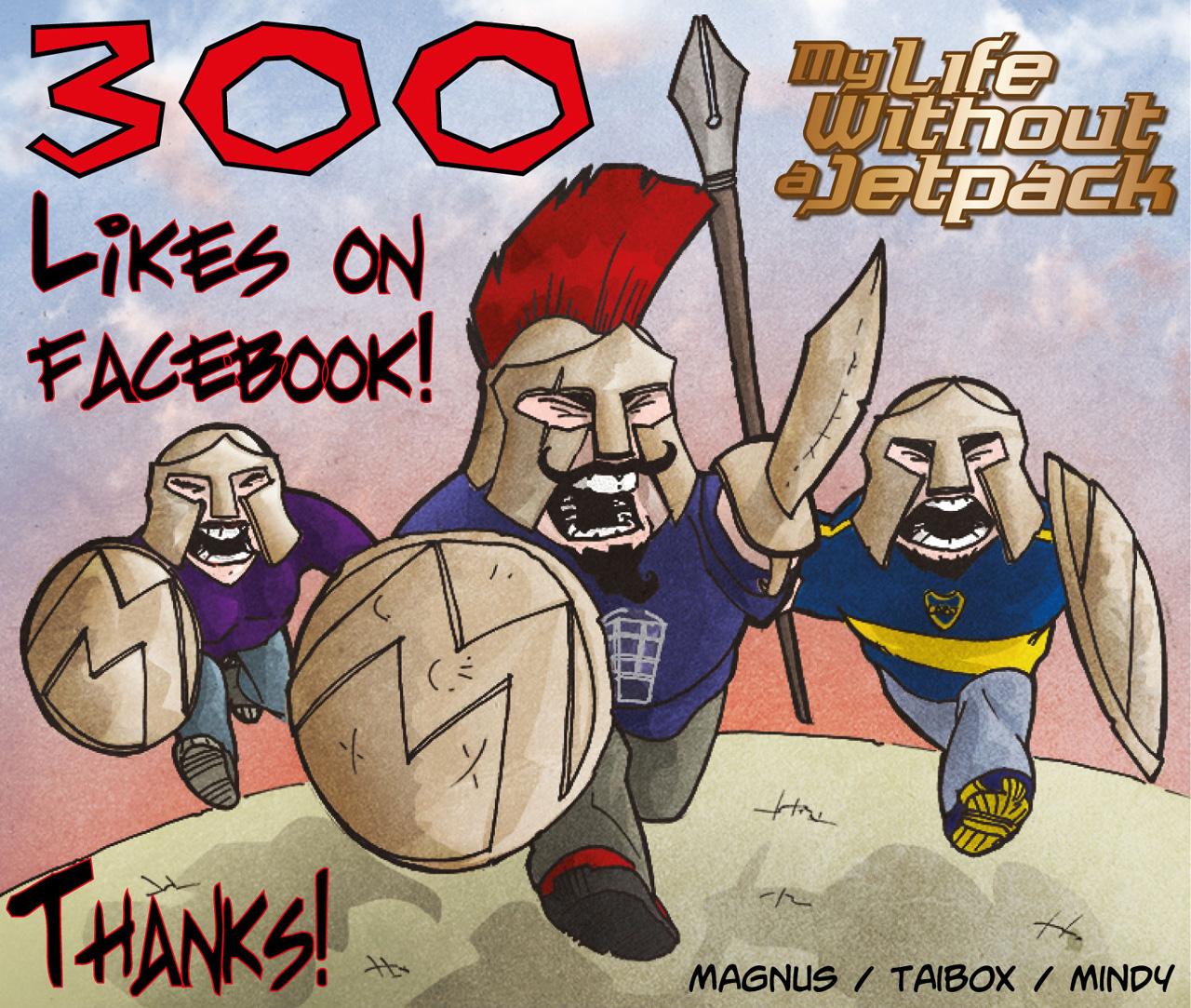 300 Facebook Fans!